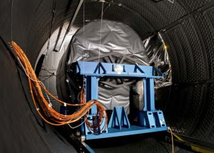 MIRI and the MTS, wrapped together before the test in the RAL cryochamber. Credit: MIRI consortium,