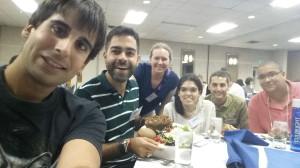 """""""Selfie"""" con otros Fulbrighters españoles"""