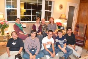Cena con una familia de acogida en Denver