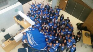 Fulbrighters at the Educational Justice Seminar at the George Washington University