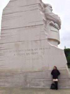 At the Martin Luther King Memorial, Washington DC